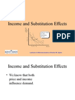 Income and Substitution Effects (1)