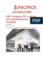 06-07-2015 Municipios - RMV Inaugura CIS y Entrega Mil Computadoras en Teziutlán