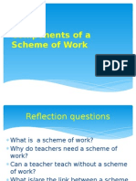 Components of a Scheme of Work