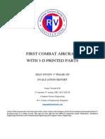 3-D printed combat aircraft