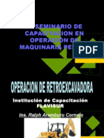 Operacion retroexcavadora