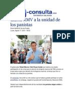 17-08-2015 E-consulta.com - Llama RMV a La Unidad de Los Panistas