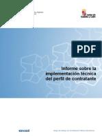 Informe sobre la implementación técnica del perfil de contratante