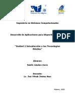 Unidad 1 Introduccion a Las Tecnologias Moviles Rodolfo