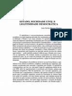 Estado, ociedade Civil e Legitimidade democratica