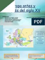 Europa Antes y Después Del Siglo XV..Pptx