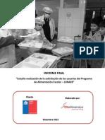 Informe Final Evaluación Satisfacción Usuaria PAE