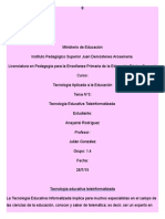 Tecnologia Educativa Teleinformatizada