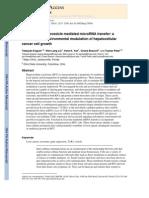 Inter-cellular Nanovesicle Mediated MicroRNA Transfer