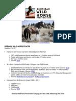 Oregon Wild Horse Stats 2015 Fin818