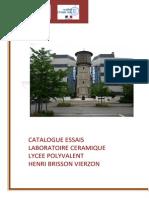 Catalogue Des Essais LABO CERAM