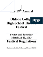 19th Annual Ohlone Theatre Festival