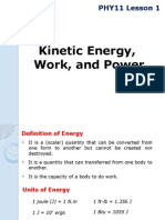 PHY11 Lesson 1 Kinetic Energy, Work, And Power 2Q1415