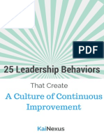 25 Leadership Behaviors
