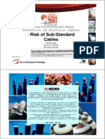 8 - Mcma_selection of Electric Cables - Risk of Sub-standard