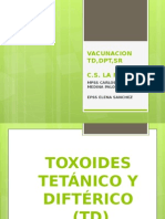 toxoide tetanico y difterico