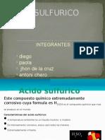 Diapositivas Del Acido Sulfurico