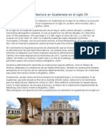 Arquitecturaen Guatemala en El Siglo XX