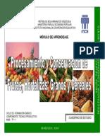 Procesamiento y Conservación de Frutas, Hortalizas, Granos y Cereales