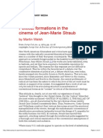 Political formations in the cinema of jean-marie straub