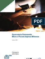 Osservatorio Permanente Micro e Piccola Impresa Milanese