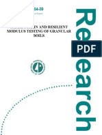 SMALL STRAIN AND RESILIENT MODULUS TESTING OF GRANULAR SOILS