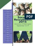 UW FFR Recruitment Brochure 2015