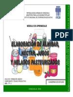 Elaboración de Almibar, Néctar, Jugos y Helados Pasteurizados