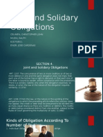 Joint and Solidary Obligation