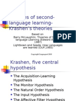 Theories of 2 Language Learning