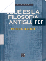 Pierre Hadot Filosofia Antigua