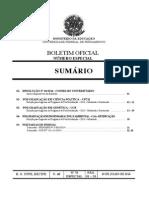 Edital de Ciência Politica - Seleção UFPE