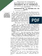 Ley división provincia Huamachuco