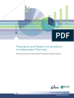 Pharmacist and Patient Conversations at Independent Pharmacy Feb 2015