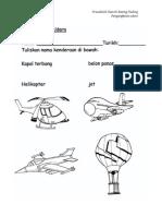 lembaran kerja pra sekolah Pengangkutan Udara (BM, BI & KOG)