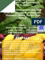 PPT Isolation New Monoterpenoid Alkaloid