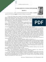 Teste 7.ºano  Língua Portuguesa