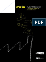 Guía de Recomendaciones Para La Selección de Calzado Laboral Ergonómico