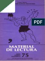 César Moro,Los Surrealistas Franceses, Material de Lectura 75 UNAM