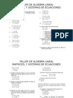 TALLER No1 Algebra Lineal