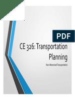 CE 326 F2013 Lecture 14 Non-Motorized Transportation