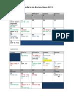 Propuesta Calendario hasta el 18 de Agosto 2015