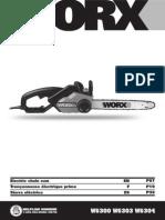 Worx Chainsaw Guide WG300 WG303 WG304