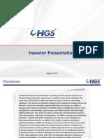 Investors / Analyast meet Presentation [Company Update]