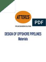 Design of Offshore Pipelines_Materials