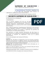 DECRETO SUPREMO Nº 018 - Documentos de Gestión IDREH – Reglamento de Organización y Funciones