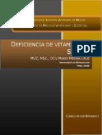 Deficiencia de Vitamina e y Selenio