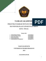 contoh Naskah Akademik PPLH Kota Tegal
