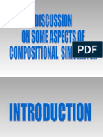 Discussion on Some Aspects of Compositional Simulation