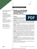 Paper Barreras de Movilización Precoz